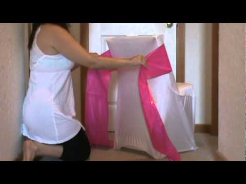 chair cover elegance comfy lounge tying a sash swag.mpg - youtube