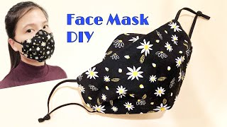 DIY Breathable Apple Mask New Design No Fog On Glasses Fabric face mask sewing tutorial