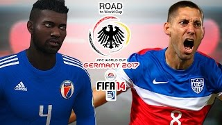 Haiti vs. USA | Group A Final | CONCACAF | Road To World Cup Germany 2017 | FIFA 14