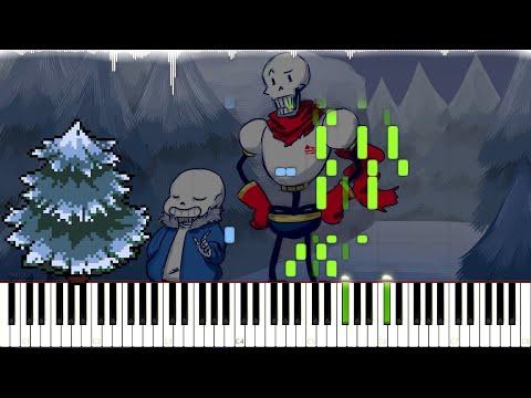 Undertale // Snowy | LyricWulf Piano Tutorial on Synthesia // OST 17