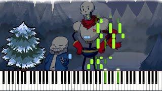 Undertale // Snowy   LyricWulf Piano Tutorial on Synthesia // OST 17