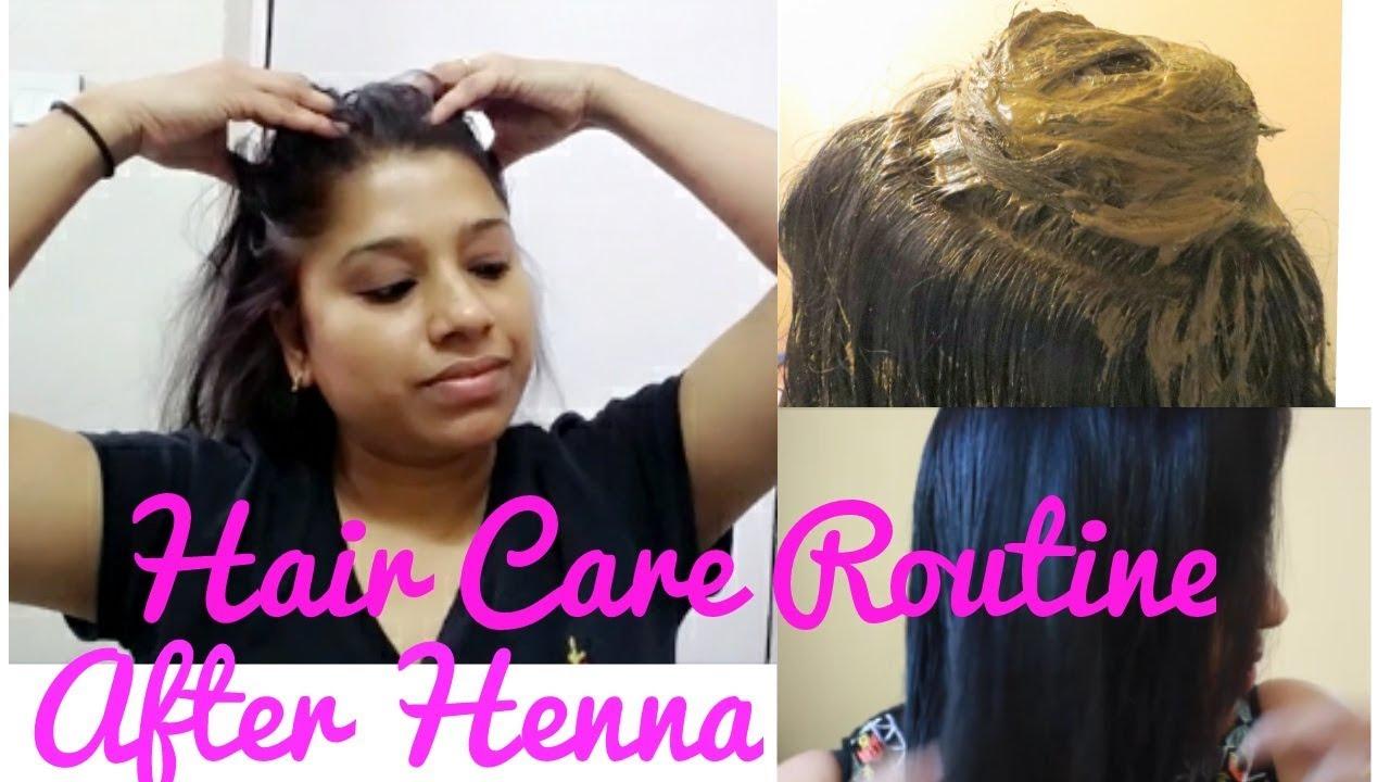 hair care routine henna colouring
