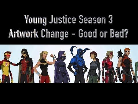 Young Justice Season 3 Artwork Change - Good or Bad?