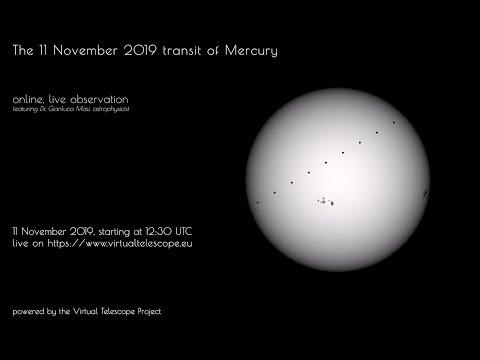 The 11 November 2019 Mercury transit : LIVE, online observation