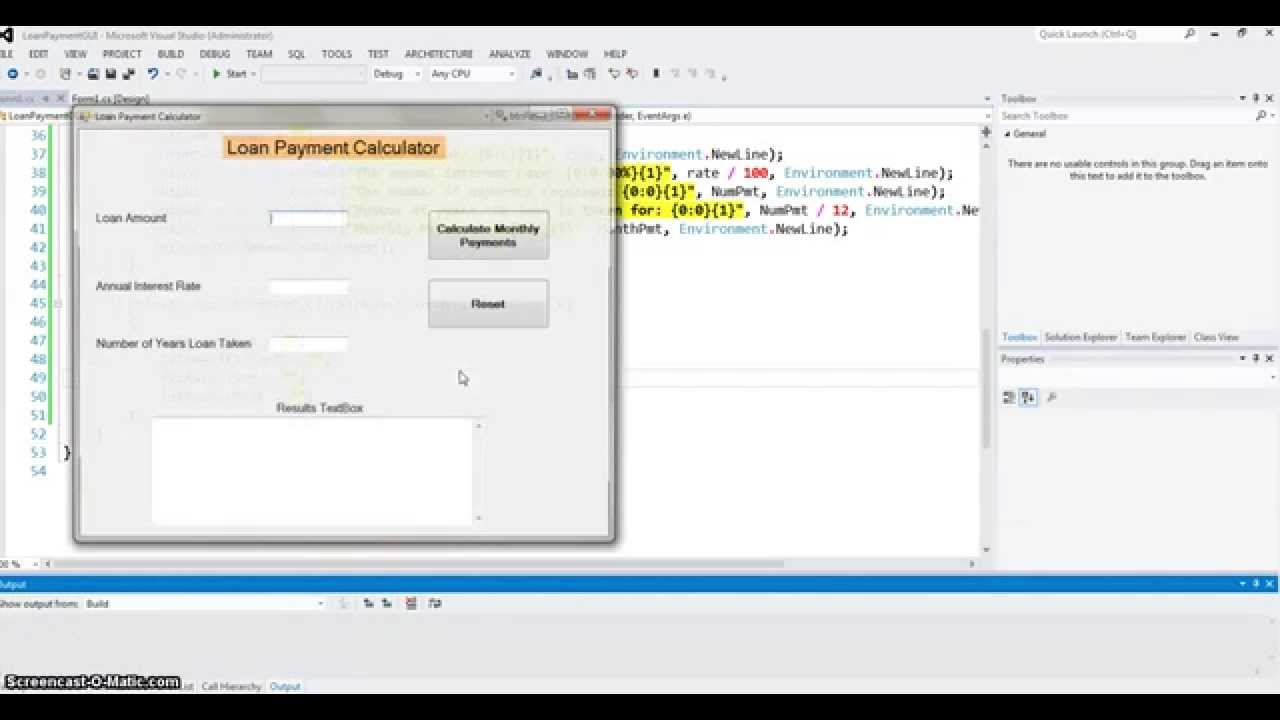 loan payment program in c part 3 windows application youtube