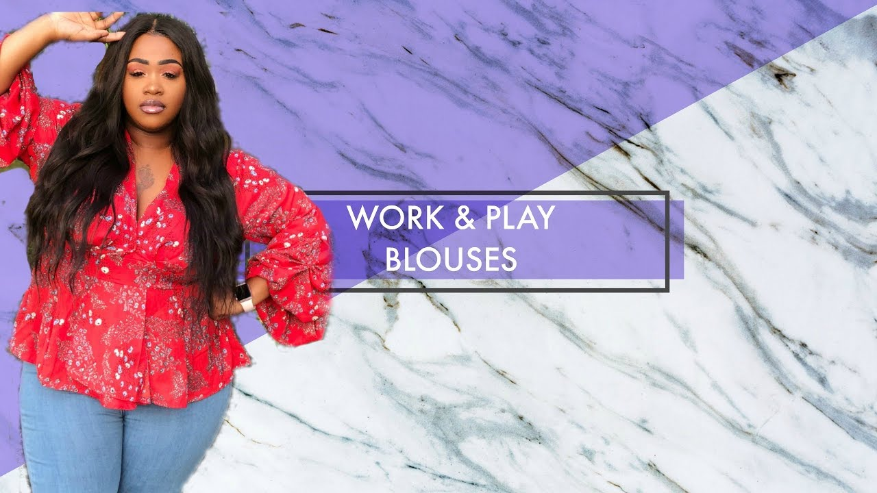 ce94eeaa4e2 Work & Play Blouse Try On Haul Plus Size ((BOOHOO)) - YouTube