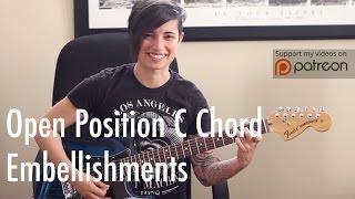 guitar tips tricks 6 open position c chord embellishments jen trani
