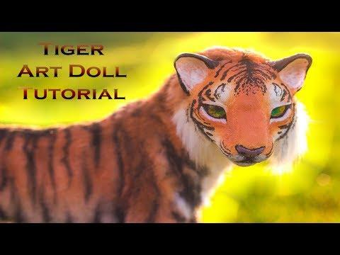 DIY Tiger Art doll Tutorial