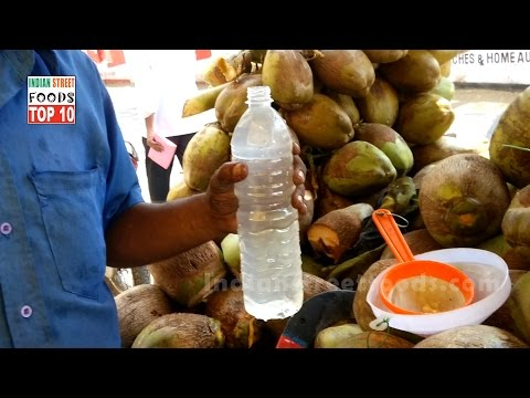 Vendor Filling Bottle With Coconut Water  | Healthy Natural Drink