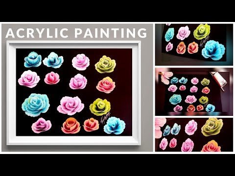 Top 15 Simple Rose Painting for Beginners - Acrylic Painting for Beginners - DIY - Roses