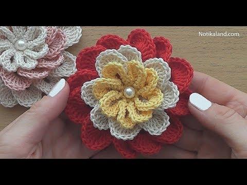 Crochet Flower for decor VERY EASY Tutorial