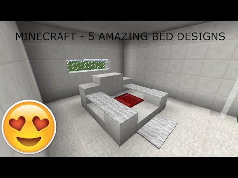 Minecraft - Amazing Bed Designs