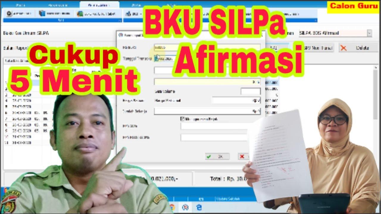 Membuat Spj Silpa Bos Afirmasi Pada Pentatausahaan Bku Arkas Online Di Bku Aplikasi Rkas 2020 Youtube