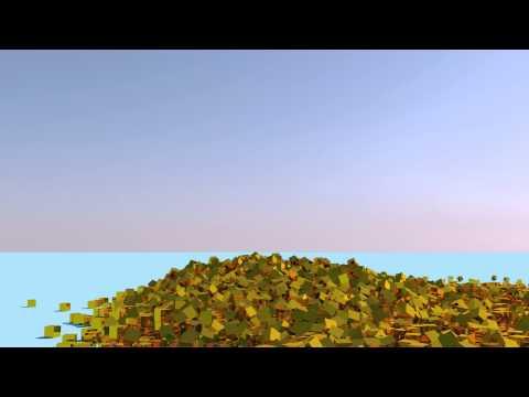 Cinema 4D - Gold Cubes (Angle 3)
