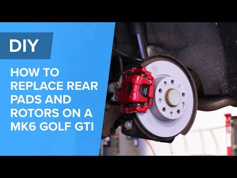 How To Replace Rear Brake Pads and Rotors - Volkswagen MK6 Golf GTI (EOS, Jetta, Beetle, A3, S3)
