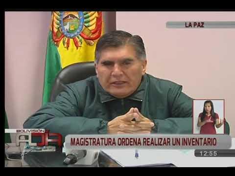 Consejo de la Magistratura de La Paz ordenó inventario