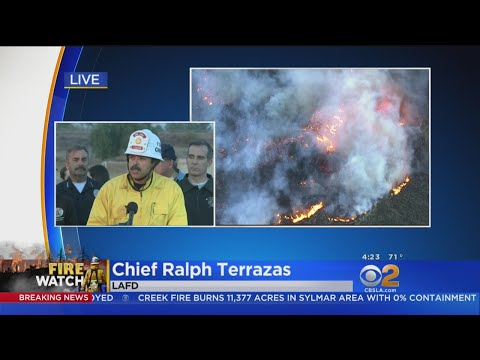 4pm Update On Creek Fire