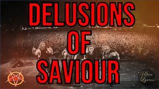 Slayer - Delusions of Saviour (Lyrics on Screen Video 🎤🎶🎸🥁)