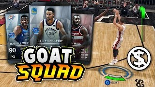I HAVE A GOAT SQUAD WITHOUT SPENDING ANY MONEY!! | NBA LIVE 18 Ultimate Team Squad Builder