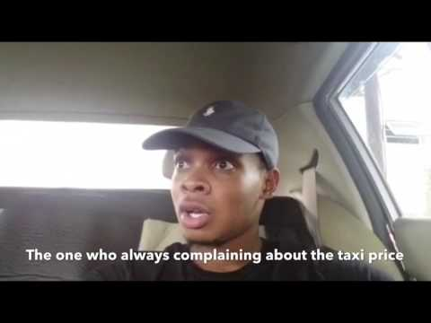 Types of passengers u see in a TAXI