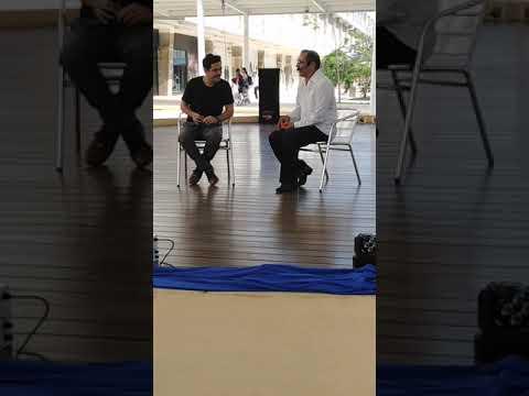 Maestro de Teatro Juan Pablo en entrevista con Studio74RickyDavid Plaza Nuevo Veracruz 07/04/19