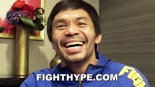 "PACQUIAO OPENS UP ON MAYWEATHER REMATCH AND ""COINCIDENCE"" HE CHOSE TO FIGHT BRONER; WINK WINK"