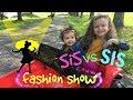 ADORBS! SISTER Sister Fashion Show!! Big Sis vs Baby Sis model Extra CUTESIE OUTFITS!