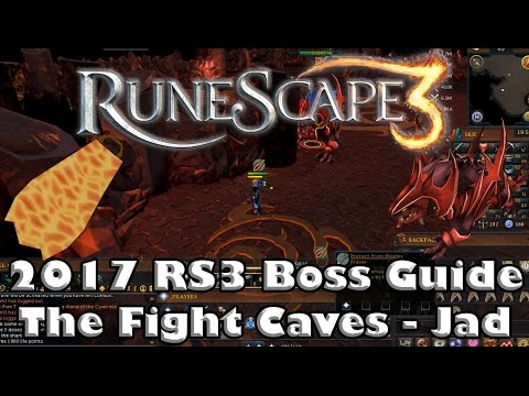 RS3 Fight Caves Guide - How to kill Jad and Obtain the Fire Cape - 2017(Low level Guide)