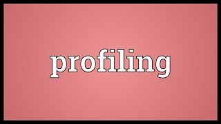 Video shows what profiling means. the forensic science of constructing an outline a person's individual characteristics.. in construction fieldwork...