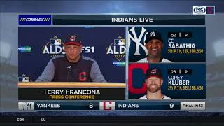 Terry Francona postgame press conference | Indians vs. Yankees | 2017 ALDS GAME 2