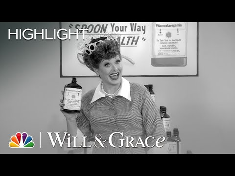 Grace Reenacts I Love Lucy's Vitameatavegamin Commercial - Will & Grace