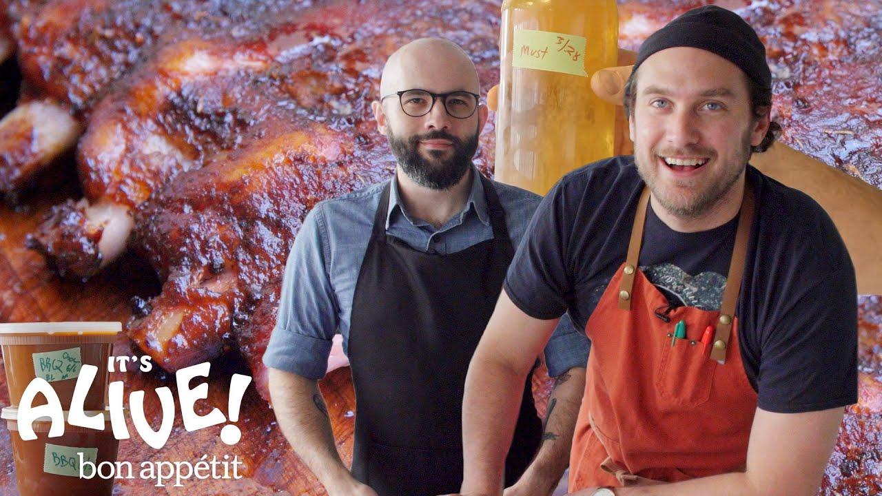Brad and Babish Make Kombucha Miso BBQ Sauce | It's Alive | Bon Appétit
