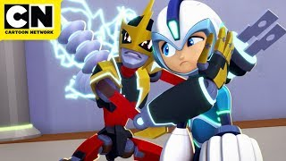 Mega Man Helps Elec Man | Mega Man: Fully Charged | Cartoon Network