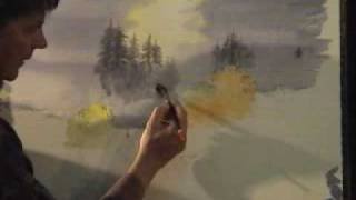 David Bellamy paints a waterfall in watercolour Part 1