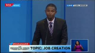 Here is our six-point plan on getting employment for the youths: Running mate Muthiora Kiriara