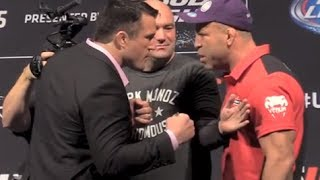 Chael Sonnen and Wanderlei Silva Separated at Heated UFC 175 Faceoffs thumbnail