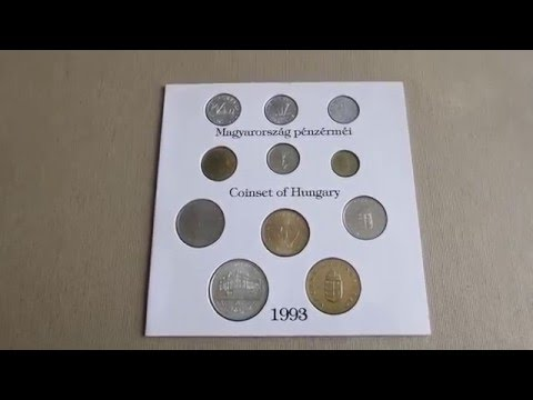 Hungary coin set 1993 with 200 Forint in silver. KM# MS 23