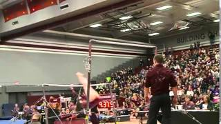 3/28/15 - Gymnastics - UW-La Crosse 191.525, Ursinus College (Pa.) 191.225