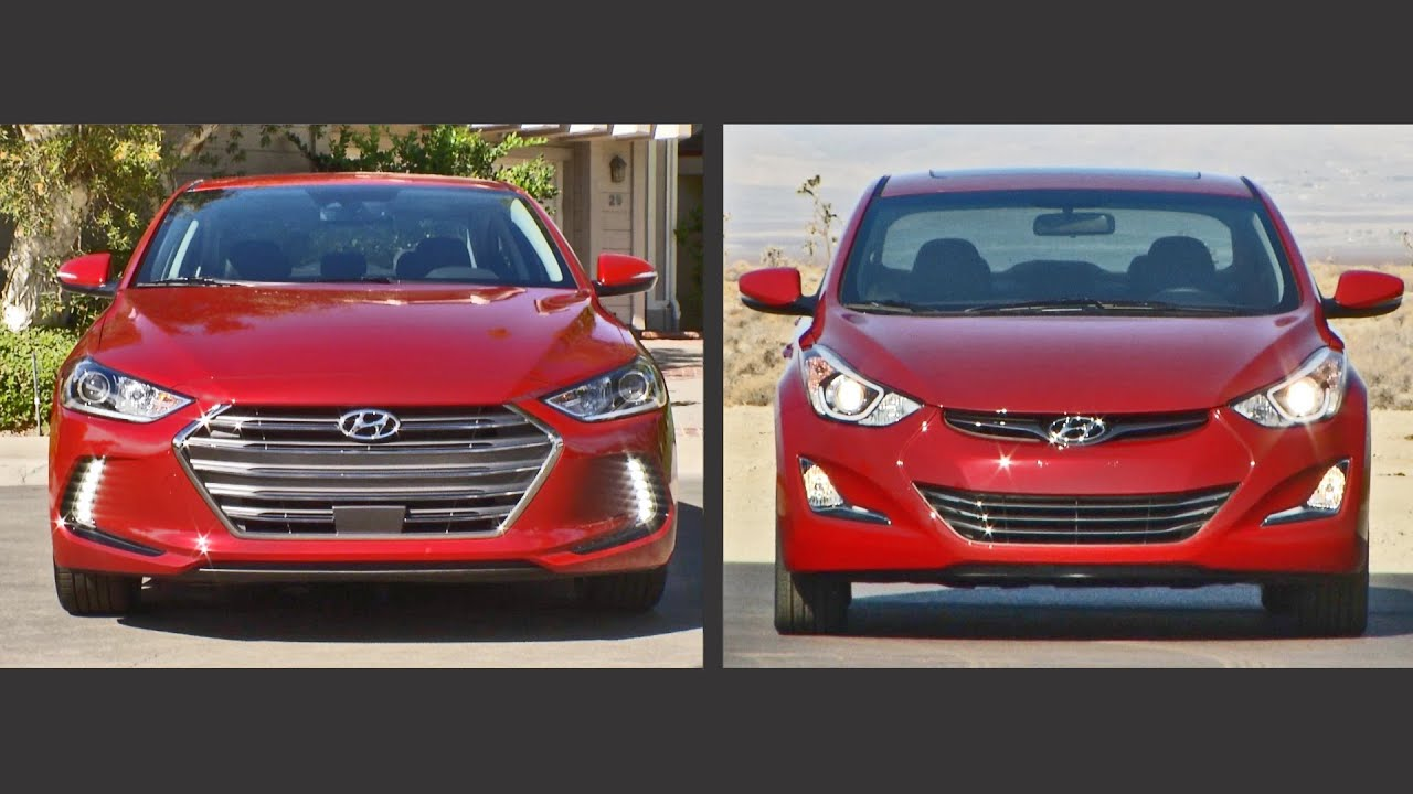 2017 Elantra Vs 2016 Elantra Youtube