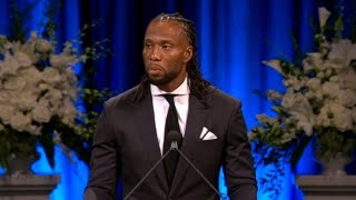 NFL star Larry Fitzgerald's eulogy for his friend John McCain