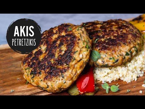 Chicken Burger Patties   Akis Kitchen