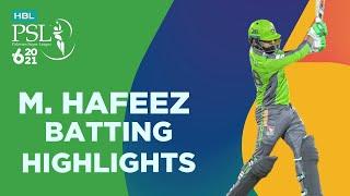Mohammad Hafeez Batting Highlights Lahore Vs Quetta Match 4 HBL PSL 6 MG2T