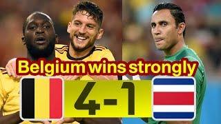 Belgium 4-1 Costa Rica   Highlights - 11.06.2018