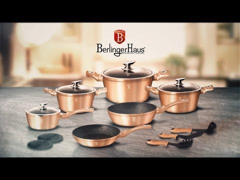 Berlinger Haus Metallic Line Rosegold Edition 15 Pcs Cookware Set Presentation [BH-1224N]