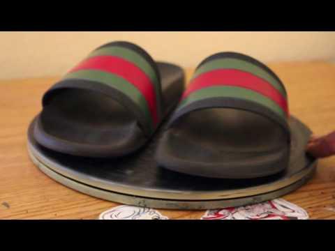 Gucci Flip Flop Restoration by Funky Fresh Footwear LLC