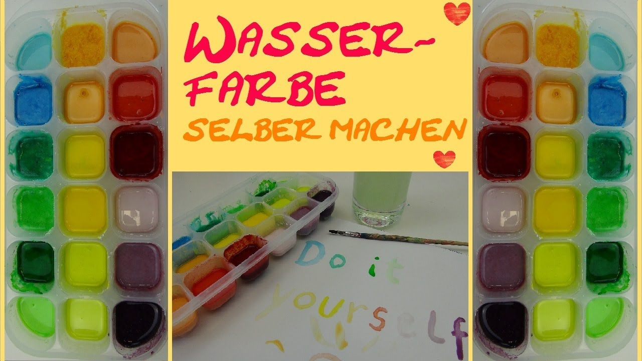 diy wasserfarben water colors selber machen ganz einfache anleitung youtube. Black Bedroom Furniture Sets. Home Design Ideas