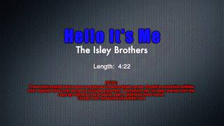 Demonstration Track #15 - Hello It's Me - The Isley Brothers