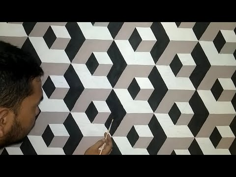 OPTICAL ILLUSION 3D WALL PAINTING DESIGNS IDEAS || HOW TO MAKE WALL ART PAINTING DECORATION INTERIOR