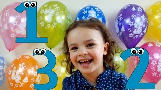 Learn To Count from 1 to 10 - Balloon Numbers for toddlers and kids