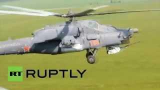 В Ростовской области прошли учения на вертолетах Ми-28 и Ми-24